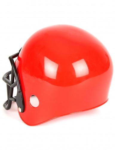 Amerikkalaisen jalkapallon punainen kypärä lapselle-1