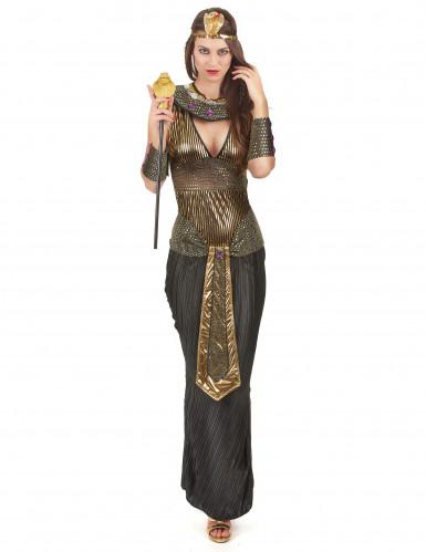 Niilin kuningattaren musta pitkä asu naiselle