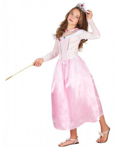 Lasten vaaleanpunainen prinsessa-asu-1