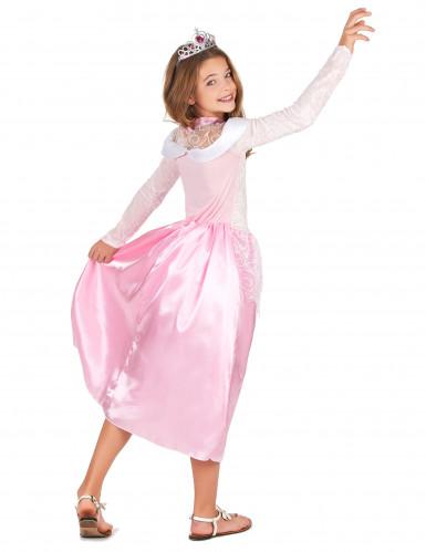 Lasten vaaleanpunainen prinsessa-asu-2