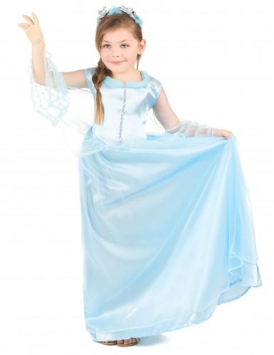 Sininen prinsessa - Naamiaismekko lapsille-1