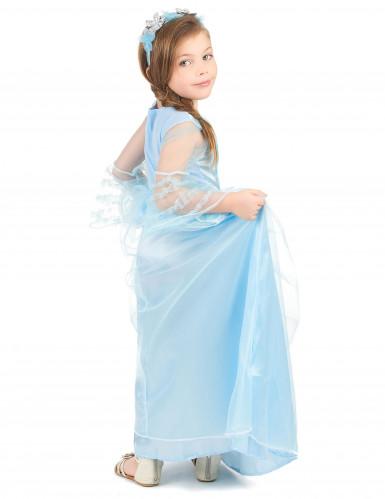 Sininen prinsessa - Naamiaismekko lapsille-2