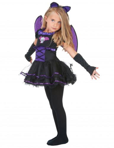 Violetti lepakkoasu lapsille-1