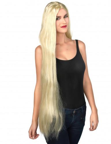 Naisten peruukki Pitkät vaaleat hiukset