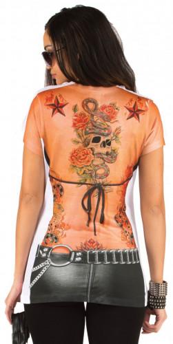 Naisten tatuoitu t-paita-1