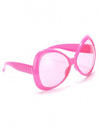 Diskotyyliset vaaleanpunaiset aurinkolasit aikuisille