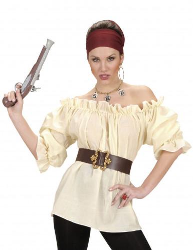 Merirosvottaren beige paitapusero naisille