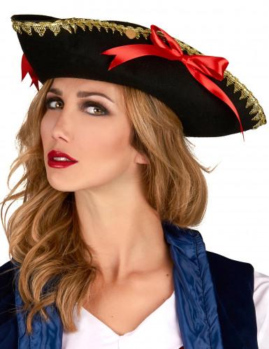 Naisten kolmikulmainen hattu rusettikoristeilla-1