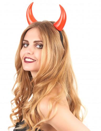 Aikuisten Halloween-asuste punaiset pirun sarvet