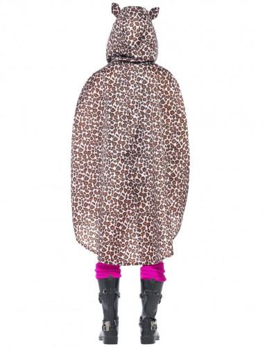 Aikuisen leopardiponcho-2