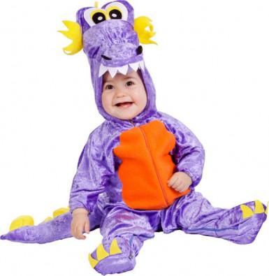 Taaperoiden violetti lohikäärmeasu