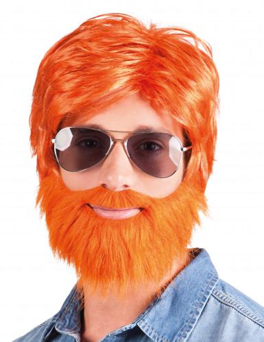 Partaheebo -peruukki ja parta