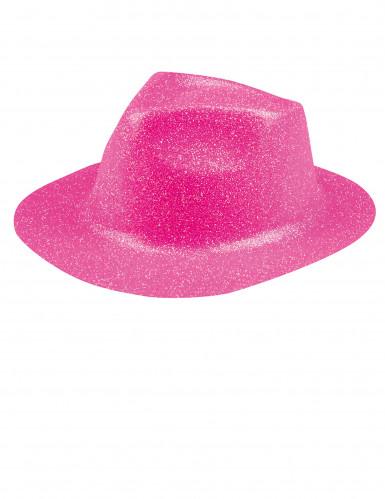 Aikuisten hattu vaaleanpunaisilla paljeteilla
