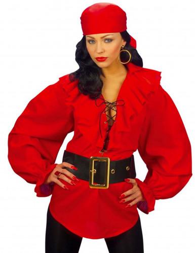 Punainen merirosvottaren paitapusero naisille