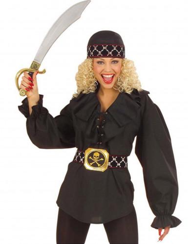 Musta merirosvottaren paitapusero naisille