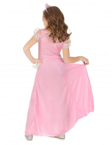 Mekko linnan juhliin - Vaaleanpunainen prinsessamekko lapsille-2