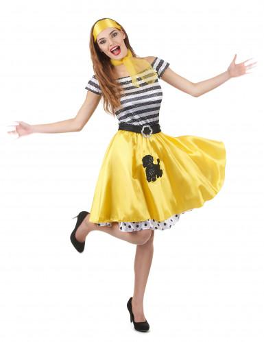50- luvun keltainen tanssiasu