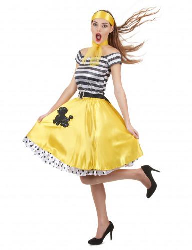 50- luvun keltainen tanssiasu-1