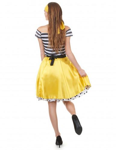 50- luvun keltainen tanssiasu-2
