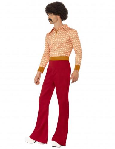 Miehen tyylikäs 70-luvun naamiaisasu-1