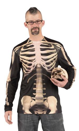 Aikuisten Halloween Luuranko t-paita -asu