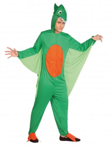 Miesten vihreä dinosauruspuku