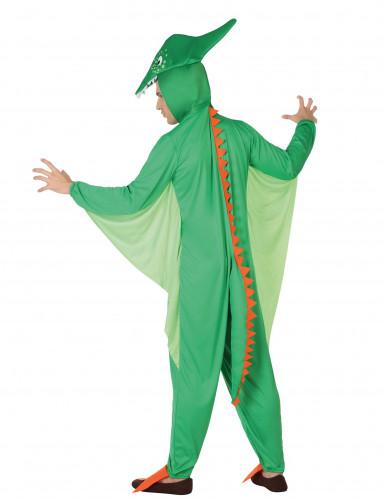 Miesten vihreä dinosauruspuku-1