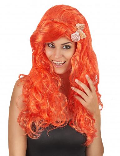 Naisten peruukki pitkät oranssit hiukset
