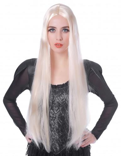 Naisten ekstrapitkä vaalea peruukki