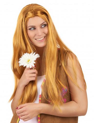 Naisten peruukki pitkät punertavat hiukset Hippi