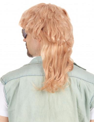 Miesten peruukki vaalea takatukka-1