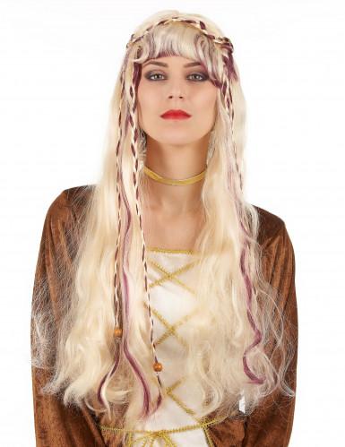 Naisten vaalea peruukki, keskiaika