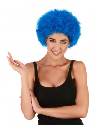 Aikuisten sininen afro/klovnin peruukki