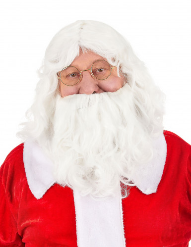 Joulupukin klassinen parta ja peruukki