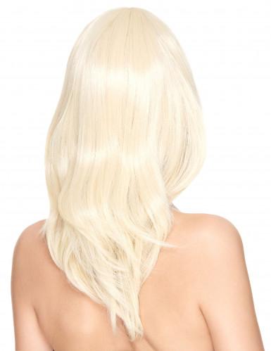 Naisten vaalea peruukki, luxury-1