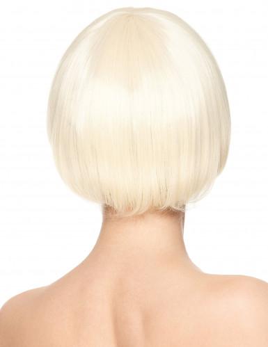 Naisten Premium-peruukki vaaleilla lyhyillä hiuksilla-1