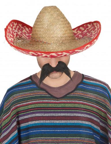 Meksikolainen punainen sombrero-hattu aikuisille-1