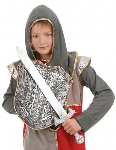 Lasten muovinen setti Ratsastavan soturin suojakilpi ja miekka-1