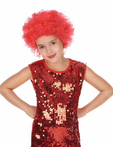 Diskotyylinen punainen peruukki lapsille