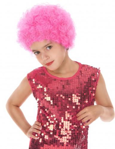 Vaaleanpunainen diskoperuukki lapsille