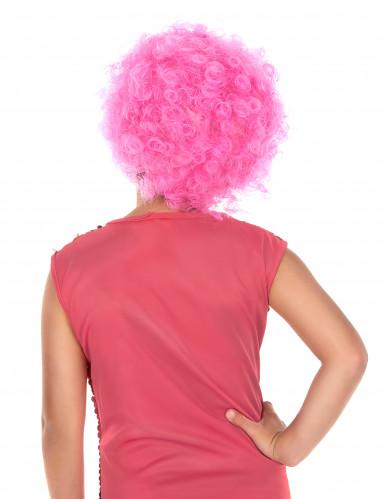 Vaaleanpunainen diskoperuukki lapsille-1