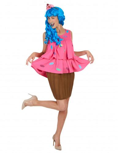 Vaaleanpunainen cupcake -puku naisille-1