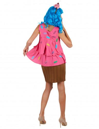 Vaaleanpunainen cupcake -puku naisille-2