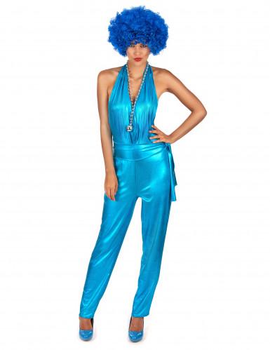 Kuuman discokuningattaren sininen haalari