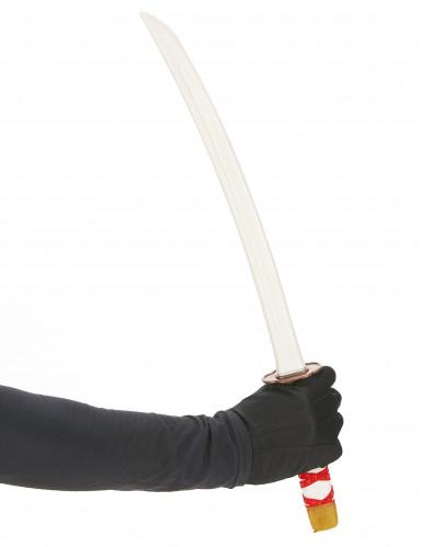 Lasten muovinen punainen Ninjan miekka-1