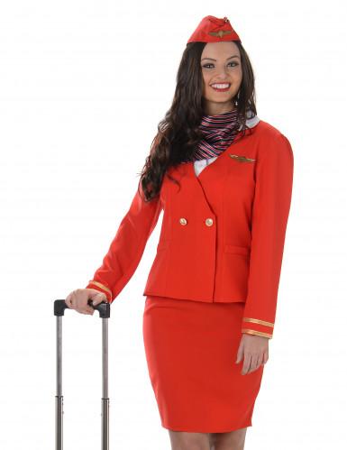 Naisten punainen lentoelämäntäasu-1
