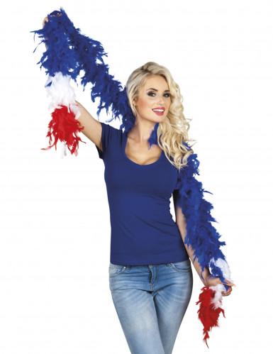 Boa/ höyhenpuuhka Ranskan lipun väreissä - 180 cm