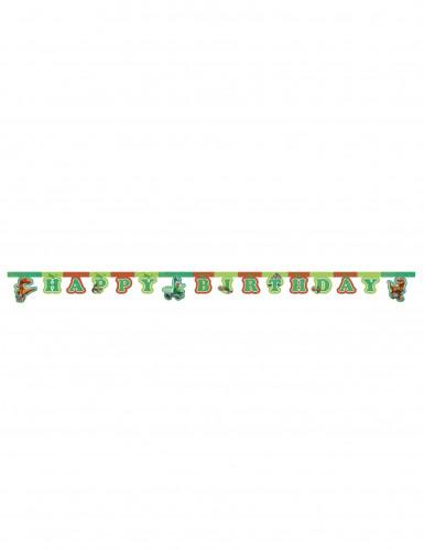 Koristeellinen Happy Birthday -viirinauha 2 m - Kunnon Dinosaurus™