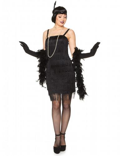 Naisten musta Charleston mekko
