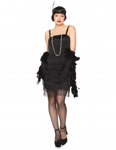 Naisten musta Charleston mekko-1